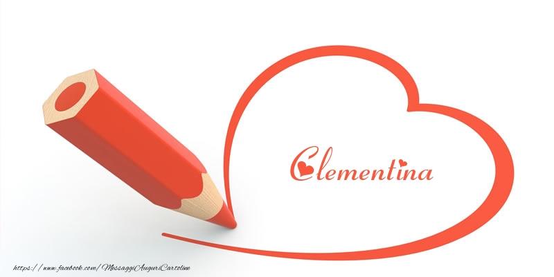 Cartoline d'amore - Cuore per Clementina!