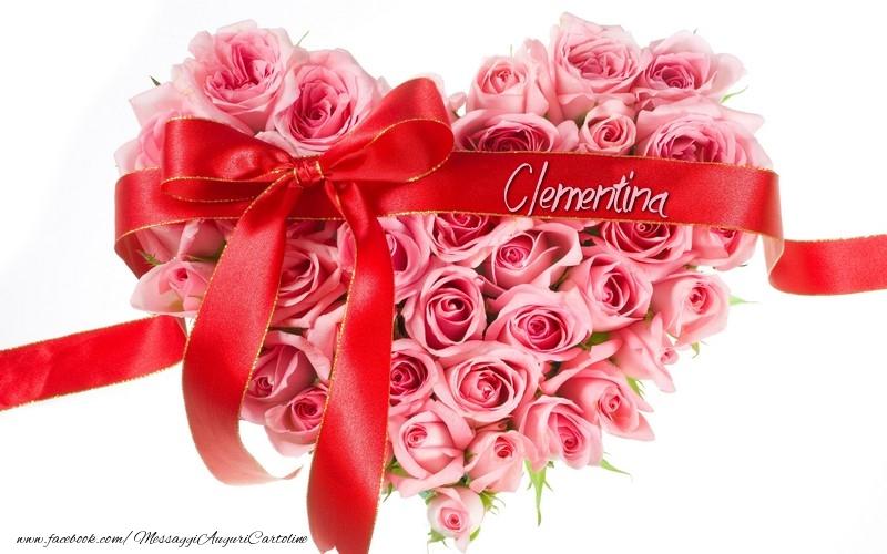 Cartoline d'amore - Nome nel cuore Clementina