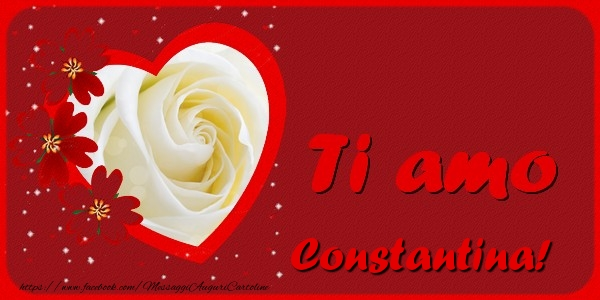 Cartoline d'amore - Ti amo Constantina