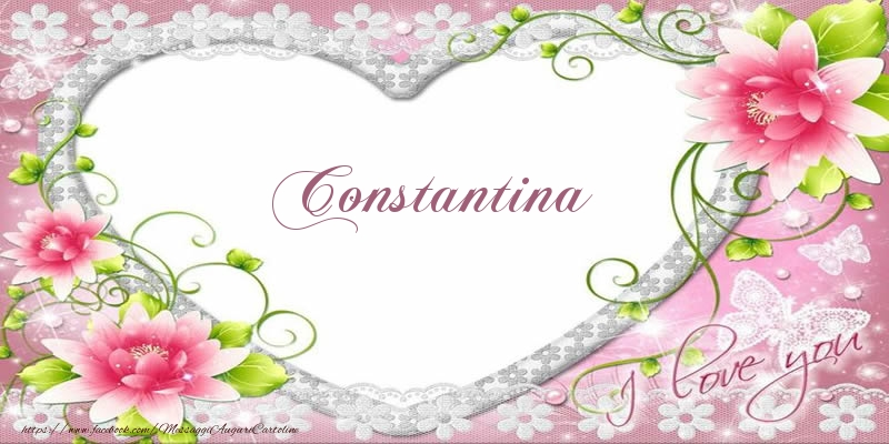 Cartoline d'amore - Constantina I love you