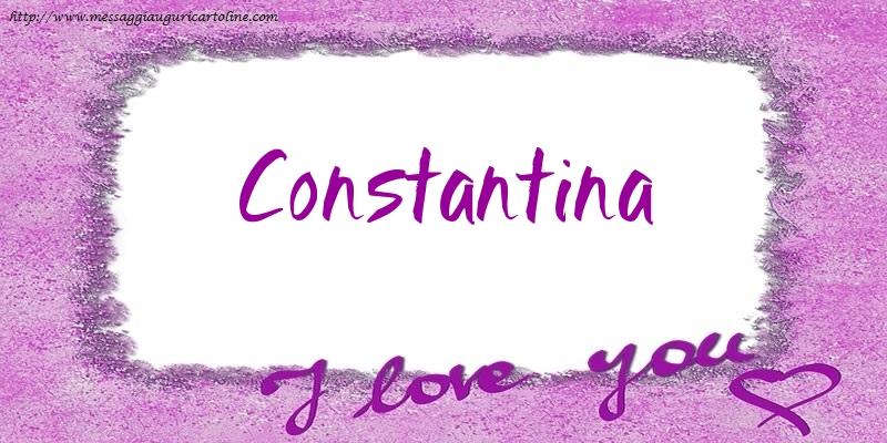 Cartoline d'amore - I love Constantina!