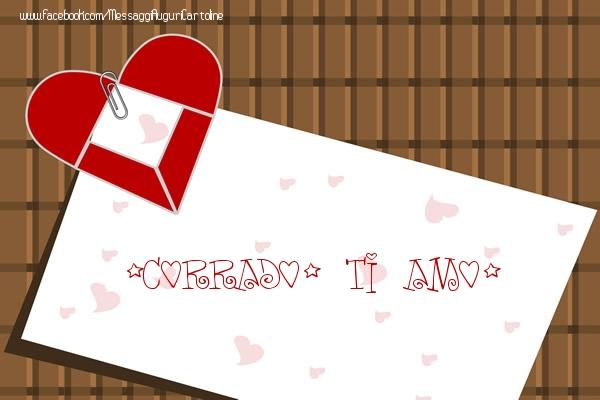 Cartoline d'amore - Corrado, Ti amo!