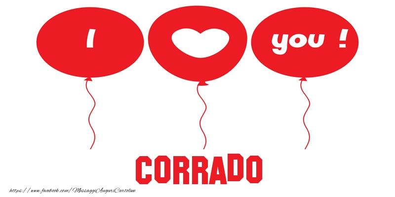 Cartoline d'amore - I love you Corrado!