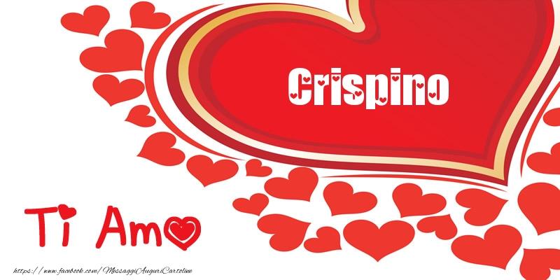 Cartoline d'amore - Crispino | Ti amo | Nome nel Cuore