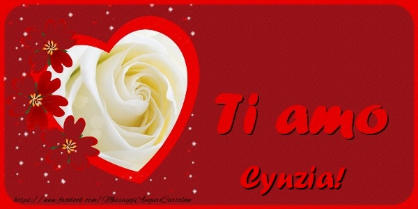 Cartoline d'amore - Ti amo Cynzia
