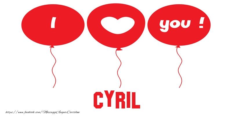 Cartoline d'amore - I love you Cyril!