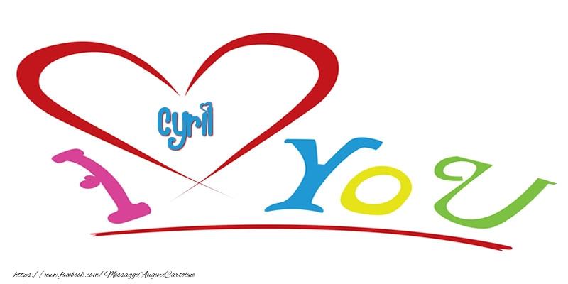 Cartoline d'amore - I love you Cyril