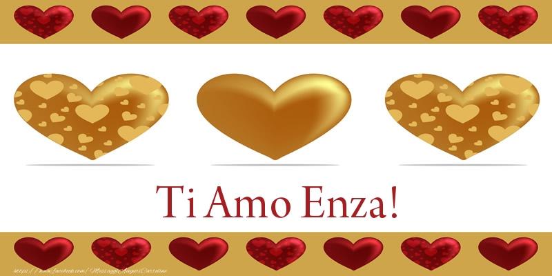 Cartoline d'amore - Ti Amo Enza!