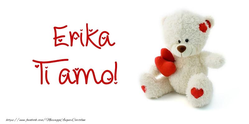 Cartoline d'amore - Erika Ti amo!