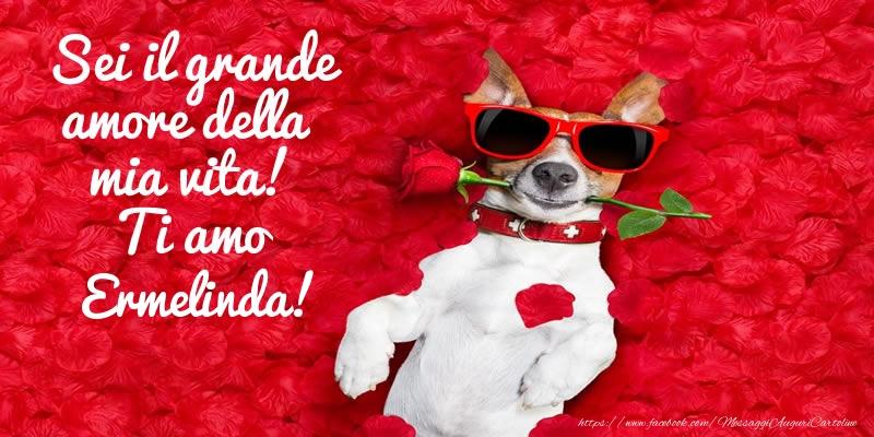Cartoline d'amore - Sei il grande amore della mia vita! Ti amo Ermelinda!