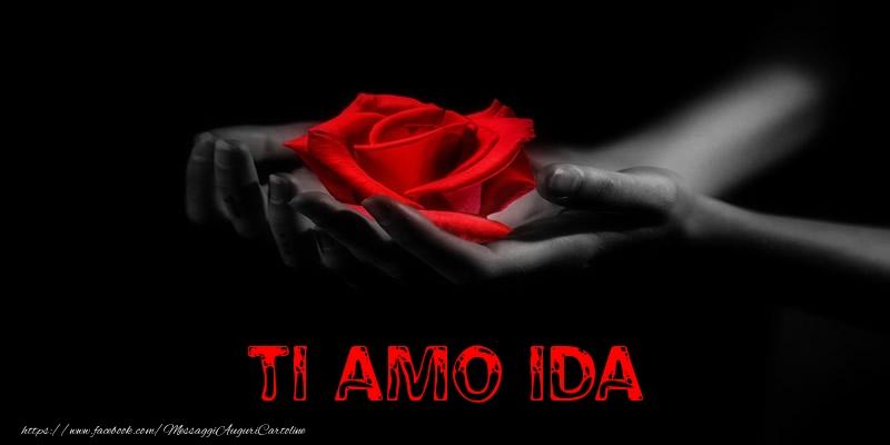 Cartoline d'amore - Ti Amo Ida