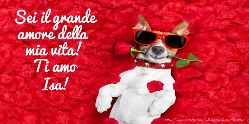 Cartoline d'amore - Sei il grande amore della mia vita! Ti amo Isa!