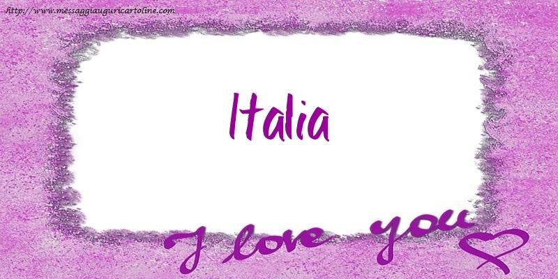 Cartoline d'amore - I love Italia!