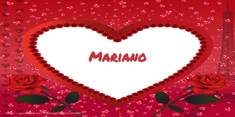 Cartoline d'amore - Nome nel cuore Mariano