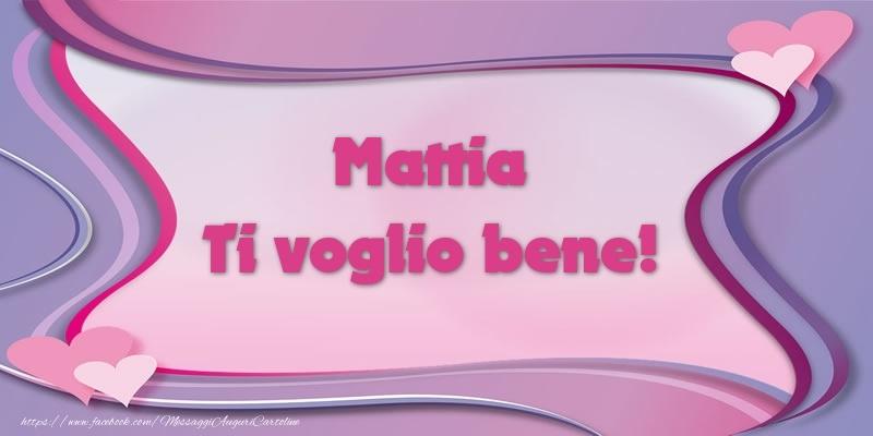 Cartoline d'amore - Mattia Ti voglio bene!