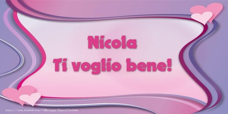 Cartoline d'amore - Nicola Ti voglio bene!