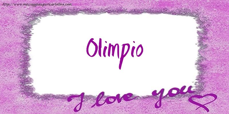 Cartoline d'amore - I love Olimpio!