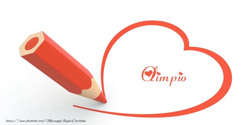 Cartoline d'amore - Cuore per Olimpio!
