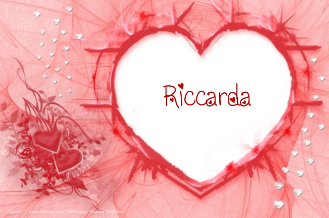 Cartoline d'amore - Love Riccarda!