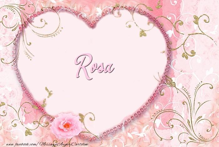 Cartoline d'amore - Rosa