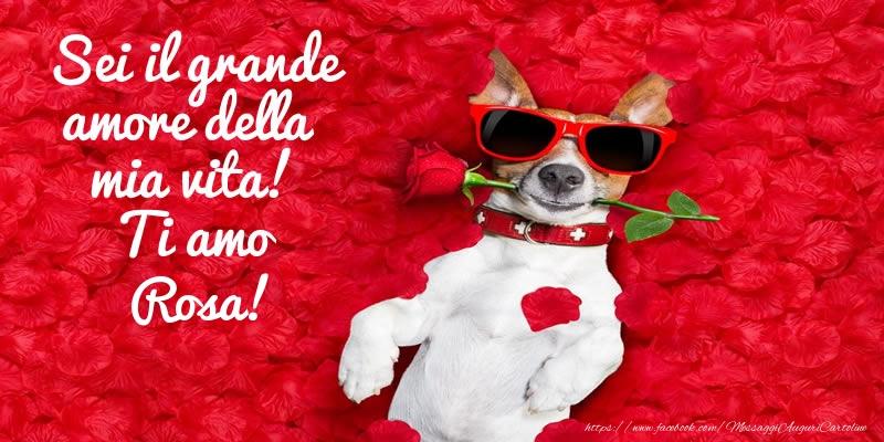 Cartoline d'amore - Sei il grande amore della mia vita! Ti amo Rosa!