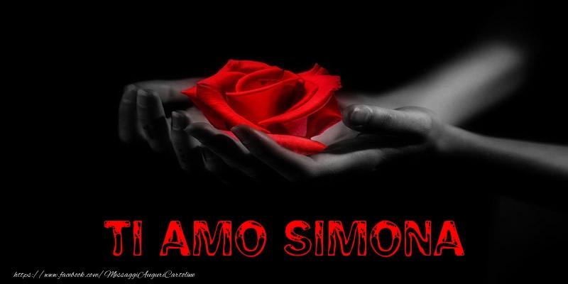 Cartoline d'amore - Ti Amo Simona