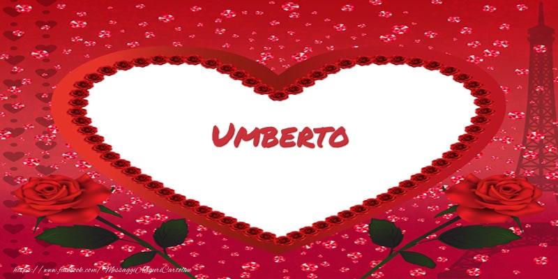 Cartoline d'amore - Nome nel cuore Umberto