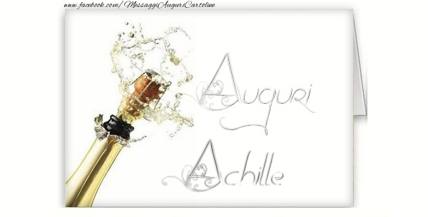 Cartoline di auguri - Auguri, Achille