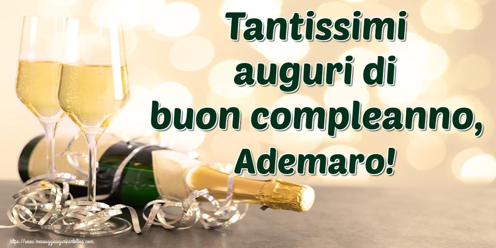 Cartoline di auguri - Tantissimi auguri di buon compleanno, Ademaro!
