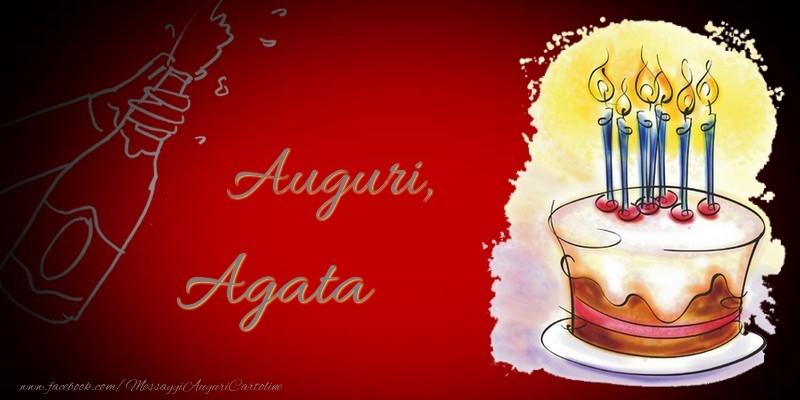 Cartoline di auguri - Auguri, Agata