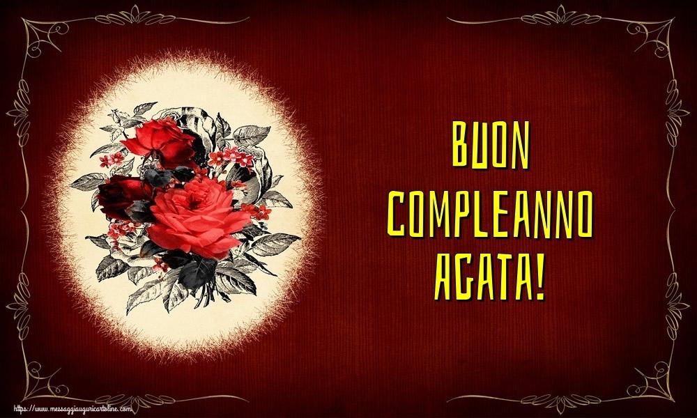 Cartoline di auguri - Buon compleanno Agata!