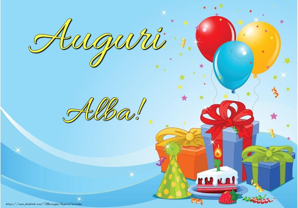 Cartoline di auguri - Auguri Alba!