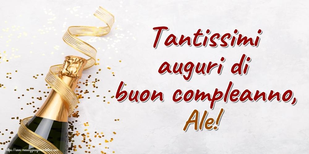 Cartoline di auguri - Tantissimi auguri di buon compleanno, Ale!