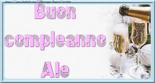 Cartoline di auguri - Buon compleanno Ale