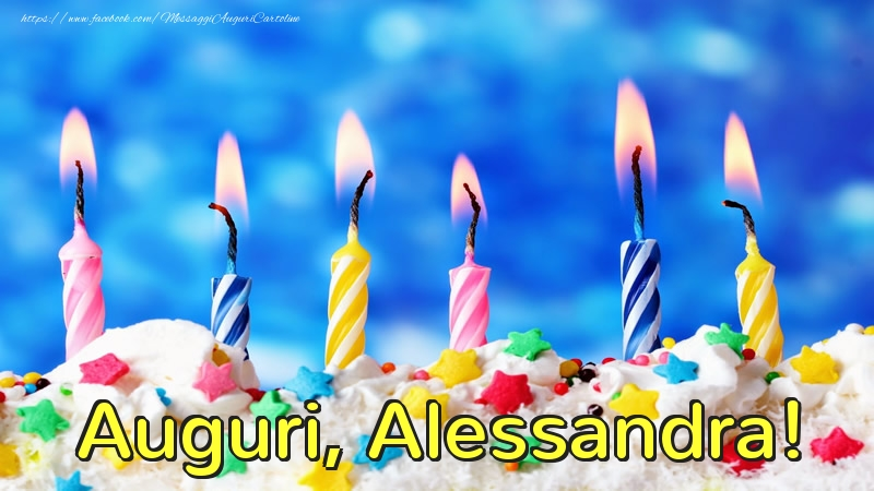 Cartoline di auguri - Auguri, Alessandra!
