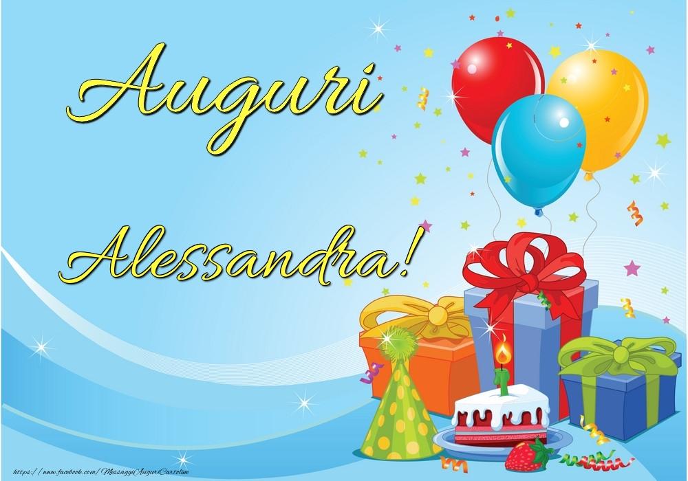 Cartoline di auguri - Auguri Alessandra!