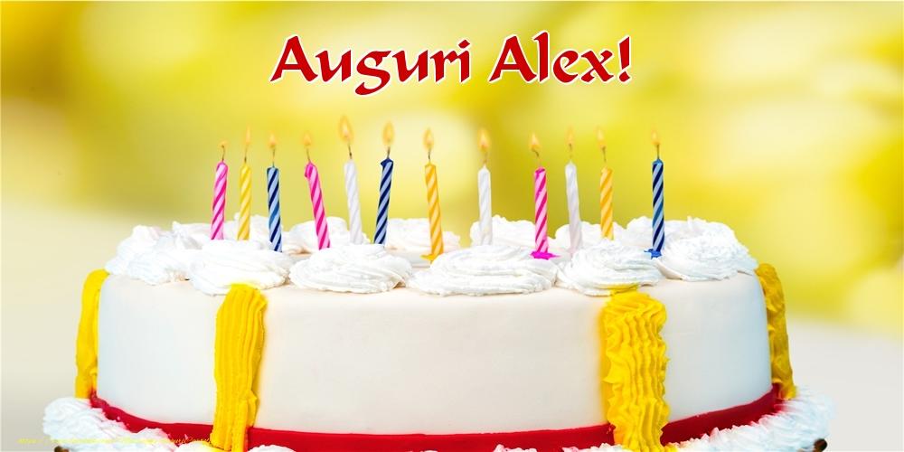 Cartoline di auguri - Auguri Alex!