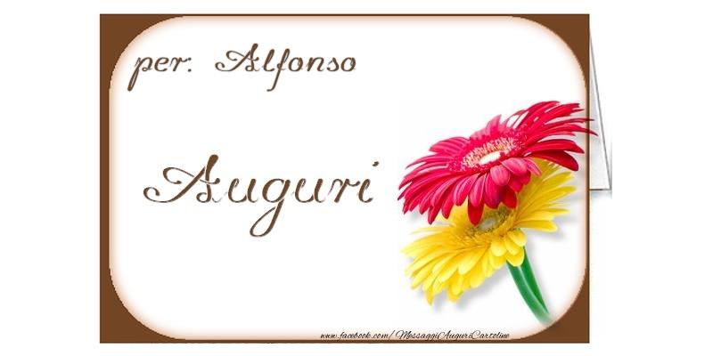 Cartoline di auguri - Auguri, Alfonso
