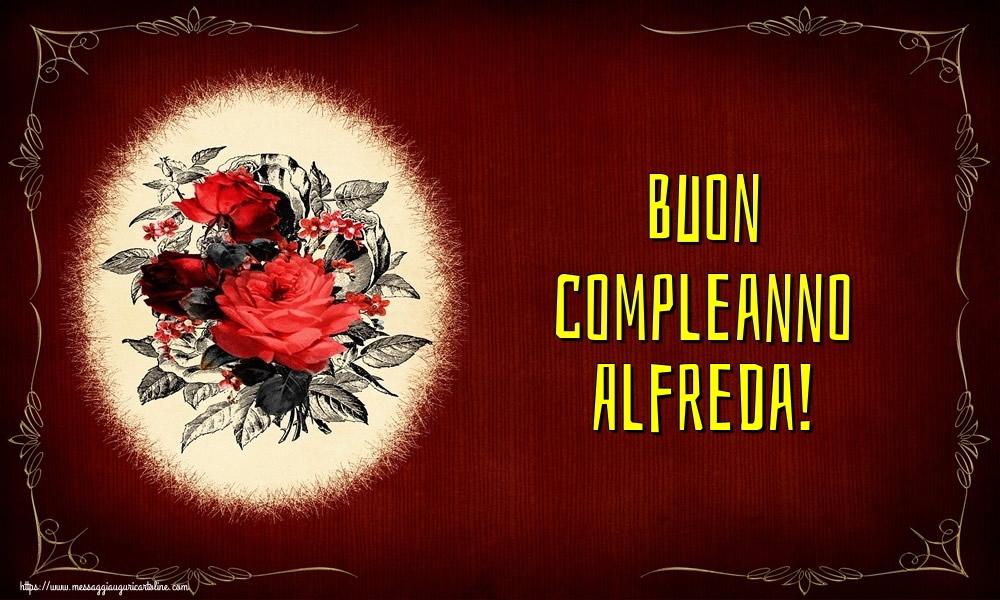 Cartoline di auguri - Buon compleanno Alfreda!