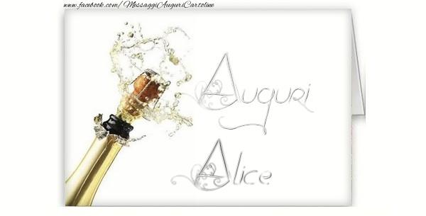 Cartoline di auguri - Auguri, Alice