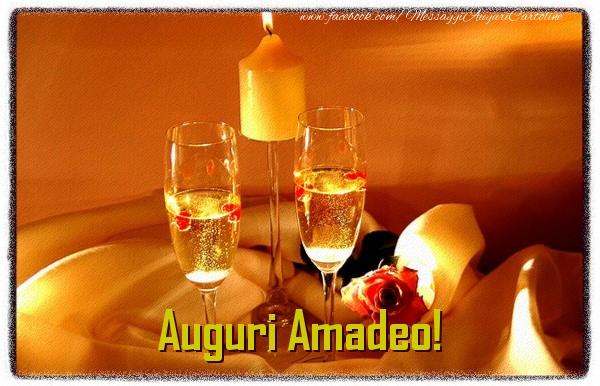 Cartoline di auguri - Auguri Amadeo