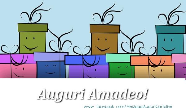 Cartoline di auguri - Auguri Amadeo!