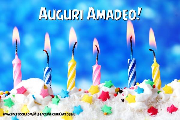 Cartoline di auguri - Auguri Amadeo !