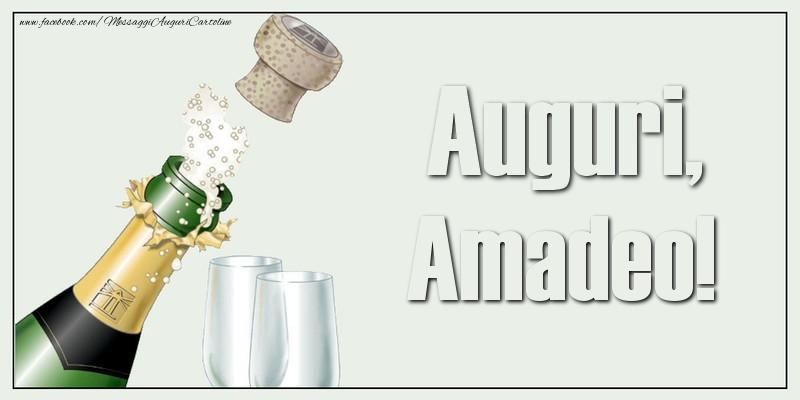 Cartoline di auguri - Auguri, Amadeo!