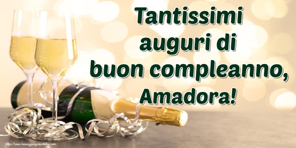 Cartoline di auguri - Tantissimi auguri di buon compleanno, Amadora!