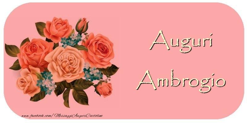 Cartoline di auguri - Auguri Ambrogio