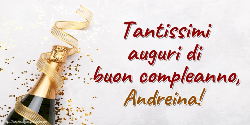 Cartoline di auguri - Tantissimi auguri di buon compleanno, Andreina!