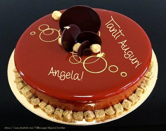Cartoline di auguri - Tanti Auguri Angela! - Torta