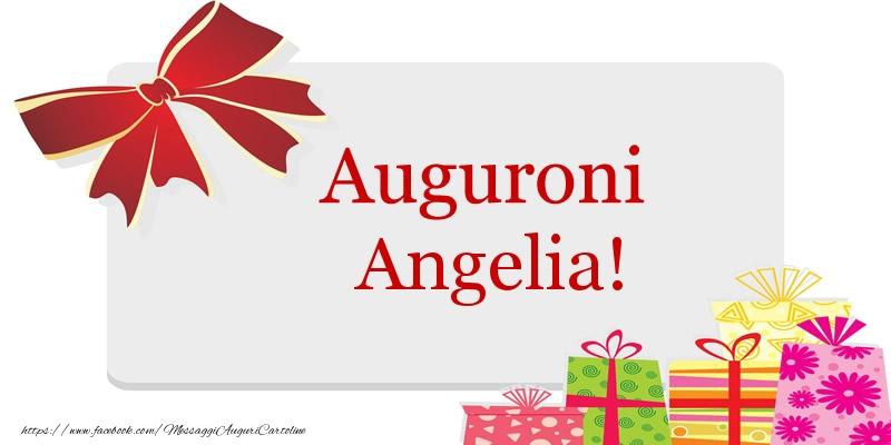 Cartoline di auguri - Auguroni Angelia!