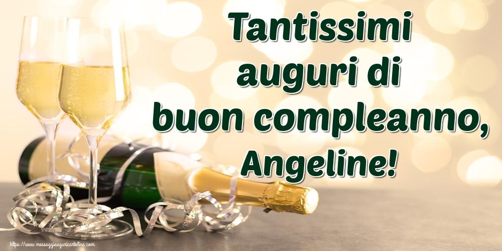 Cartoline di auguri - Tantissimi auguri di buon compleanno, Angeline!